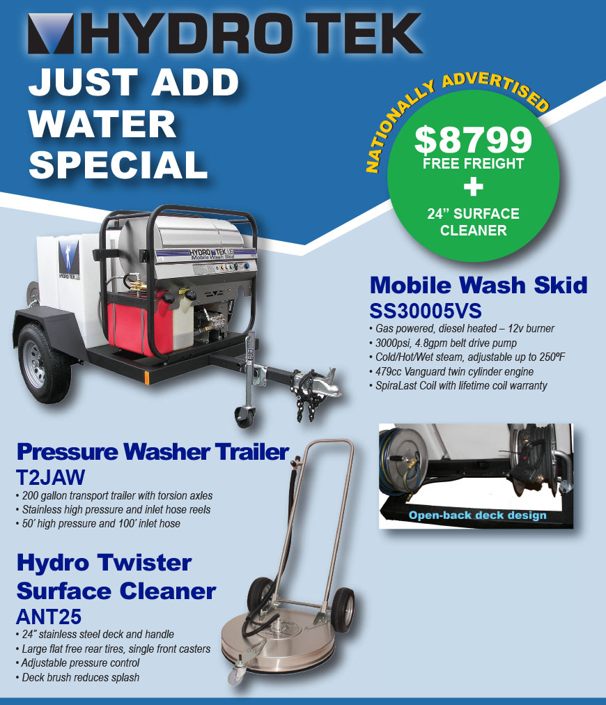 Hydro Tek Just Add Water National Specials List Flyer